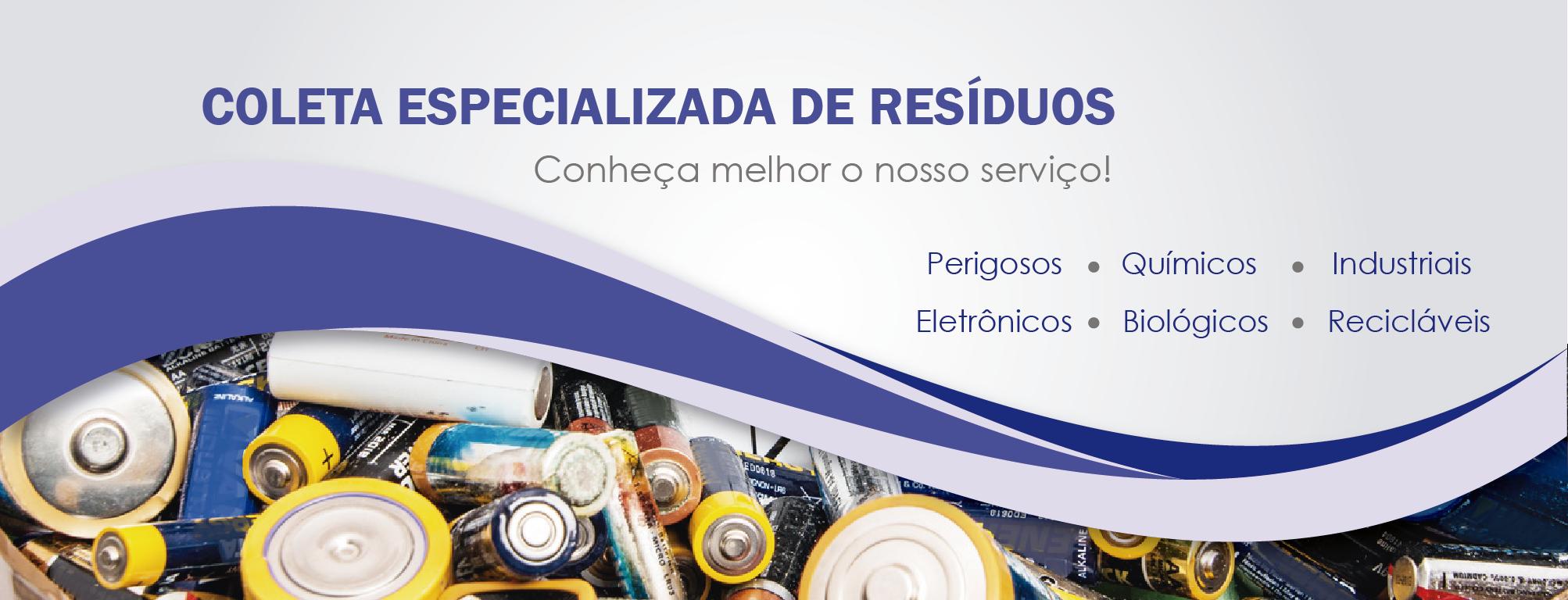 Coleta Especializada de Resíduos Hospitalares, Químicos, Industriais